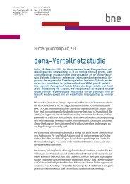 dena-Verteilnetzstudie - Bundesverband Neuer Energieanbieter