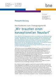 Die bne-Pressemitteilung zum Download - Bundesverband Neuer ...