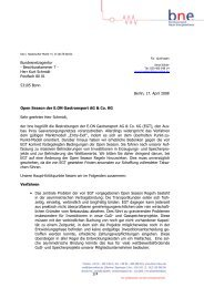 Herr Kurt Schmidt Postfach 80 01 53105 Bonn Open Season der E ...