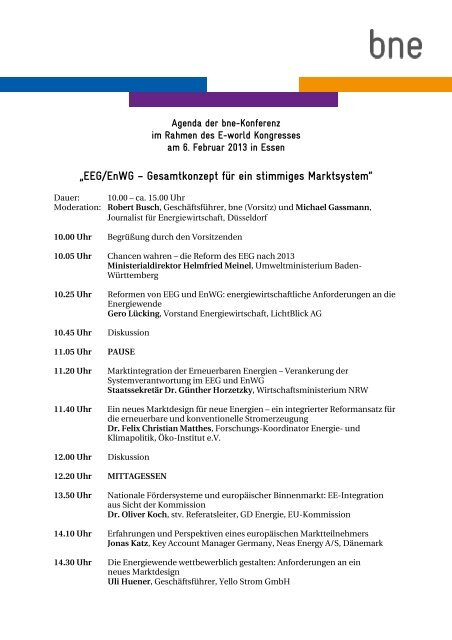 bne-Konferenz EEG_EnWG_Agenda.pdf - Bundesverband Neuer ...