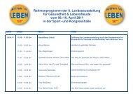 Rahmenprogramm Presse 2011 - Neue Messe GmbH