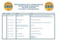 Rahmenprogramm Presse 2012.cdr - Neue Messe GmbH