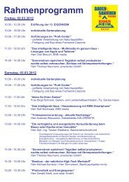 Rahmenprogramm EHRO12 Internet - Neue Messe GmbH