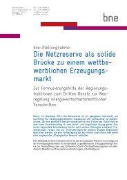 Die bne-Stellungnahme zum Download - Bundesverband Neuer ...