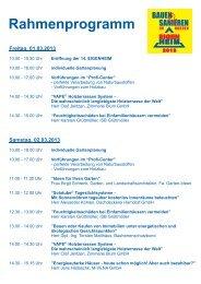 rahmenprogramm 2013 - Neue Messe GmbH