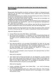 Bericht über die Jahresabschlusssitzung des Gemeinderates ...