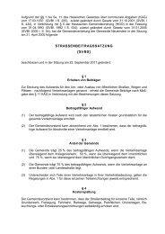 STRASSENBEITRAGSSATZUNG [StrBS] - Gemeinde Neuenstein