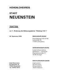 Bebauung - Info - Stadt Neuenstein