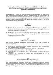 Satzung Kostenersatz und Gebühren - Samtgemeinde Neuenhaus