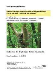 GVV Hohenloher Ebene Untersuchung windkraftrelevanter ...