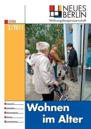 2/2011 Wohnen im  Alter - Wohnungsbaugenossenschaft Neues Berlin
