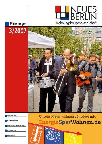 3/2007 - Wohnungsbaugenossenschaft Neues Berlin