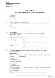 Antrag auf Benutzung - Neukirch
