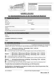 Anmeldung und Abmeldung Ganztagesbetreuung - Neukirch