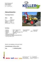 Gebrauchtmaschine - Keller Forstmaschinen AG