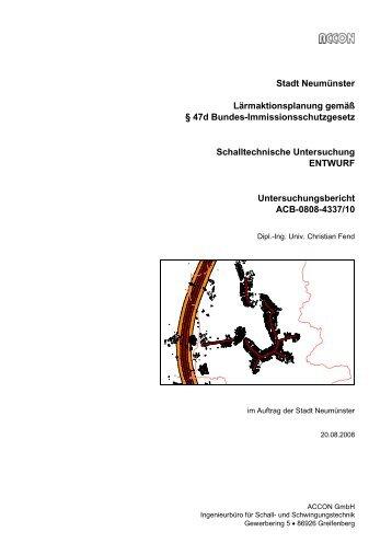 Schalltechnischen Untersuchung zum ... - Stadt Neumünster