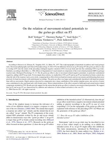 On the relation of movement-related potentials to the go/no-go effect ...
