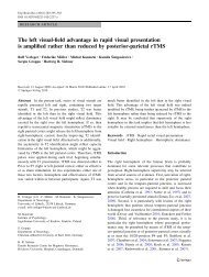 The left visual-field advantage in rapid visual ... - SpringerLink