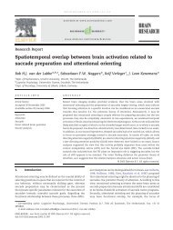 Spatiotemporal overlap between brain activation related to saccade ...