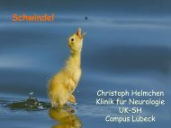 Schwindel - Klinik für Neurologie