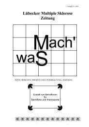 MachWas 1. Ausgabe IV / 2001 - Universität zu Lübeck