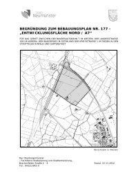 Begründung einschl. Umweltbericht - Stadt Neumünster
