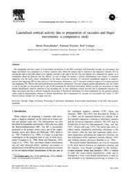 Lateralised cortical activity due to preparation of saccades and ...