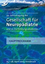 Ihr Epilepsie - 33. Jahrestagung der Gesellschaft für Neuropädiatrie