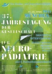 mÜnchen - 33. Jahrestagung der Gesellschaft für Neuropädiatrie