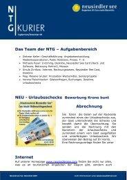 Das Team der NTG – Aufgabenbereich NEU ... - Neusiedler See