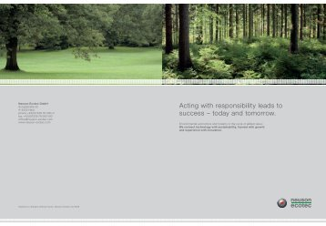 Acting with responsibility leads to success - neuson ecotec gmbh.