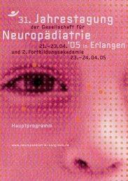 PDF-Datei - 33. Jahrestagung der Gesellschaft für Neuropädiatrie
