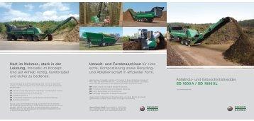 Abfallholz- und Grünschnittshredder SD 1600 A / SD 1600 XL Hart ...