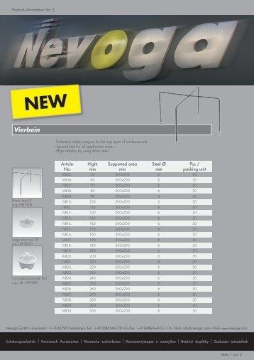 Product-Information No. 2 - Nevoga