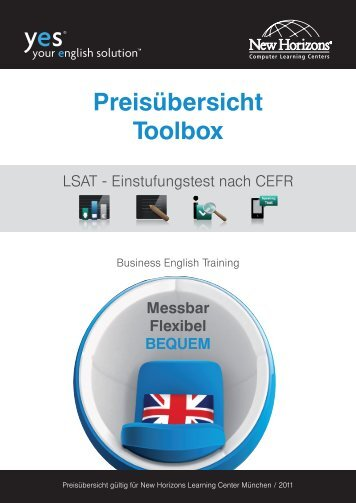 Preisübersicht Toolbox - New Horizons Computer Learning Centers ...