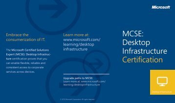 MCSE: Desktop Infrastructure Certification - New Horizons Zürich