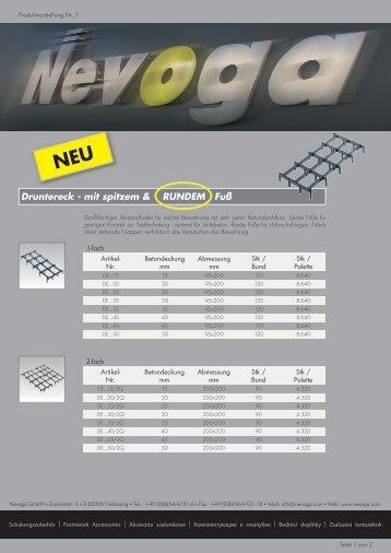 Produktvorstellung Nr. 7 - Nevoga