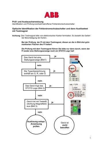 1 Prüf- und Austauschanweisung Optische Identifikation der ... - NFE