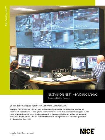 NICEVISION NET™ – NVD 5004/1002 - NICE Systems