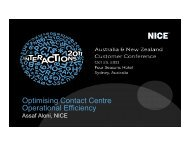 Optimising Contact Centre Operational Efficiency - NICE Systems