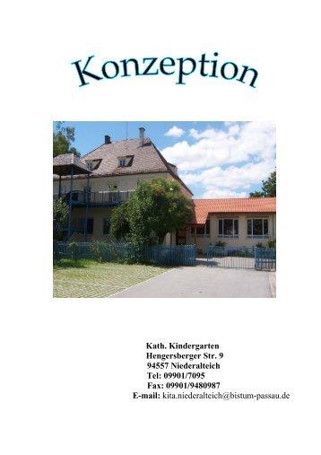 Kath. Kindergarten Hengersberger Str. 9 94557 Niederalteich Tel ...