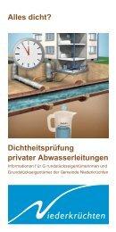Infoflyer Dichtheitsprüfung privater Abwasserleitungen  - Gemeinde ...