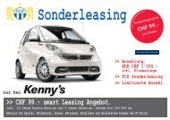 CHF 99.- smart Leasing Angebot. - Kenny's Auto-Center AG