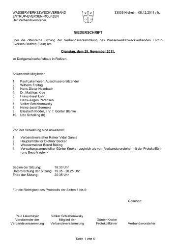 Anwesende Mitglieder: - Stadt Nieheim