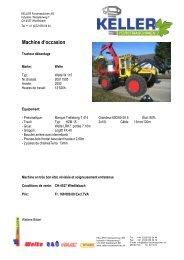 Machine d'occasion - Keller Forstmaschinen AG