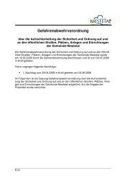 Gefahrenabwehrverordnung - Gemeinde Niestetal