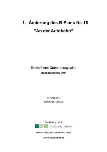 1. Änderung des B-Plans Nr. 18 - Gemeinde Niestetal
