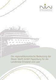 Die regionalökonomische Bedeutung  der Meyer Werft GmbH ... - NIW