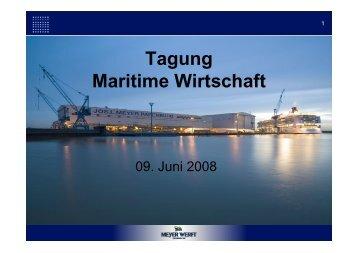 Perspektiven des Schiffbaus und der Zulieferindustrie in ... - NIW