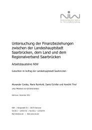 Gutachten des Niedersächsischen Instituts für Wirtschaftsforschung